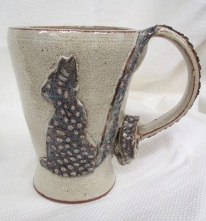 ".   Height: 6""   Price: $20   Other Glazes: Jade, Celadon Green, Celadon Blue, Forest Green, Speckled Cream"